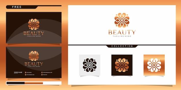 Elegante abstrakte blumen, die schönheit, yoga und spa inspirieren Premium Vektoren