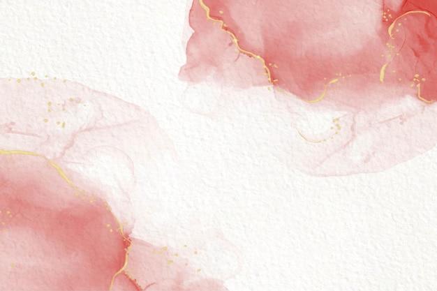 Elegante abstrakte flüssige malerei der rosa alkoholtinte Kostenlosen Vektoren