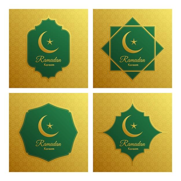 Elegante dekorative festivalkarte ramadan kareem. Premium Vektoren