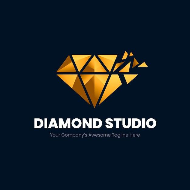 Elegante diamant-logo-vorlage Premium Vektoren
