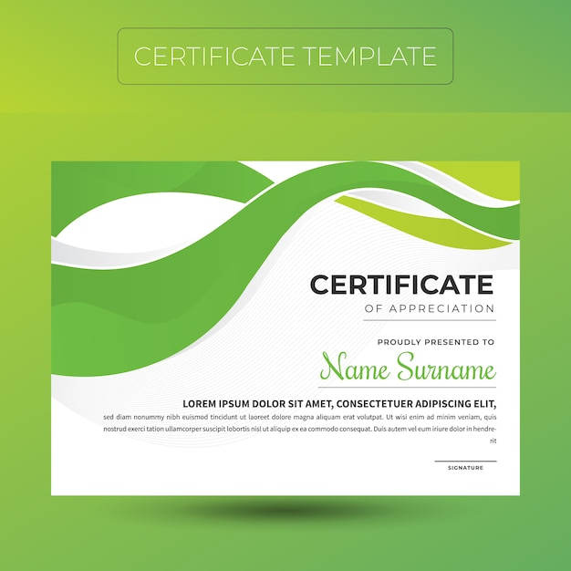 Elegante diplom zertifikatvorlage Premium Vektoren