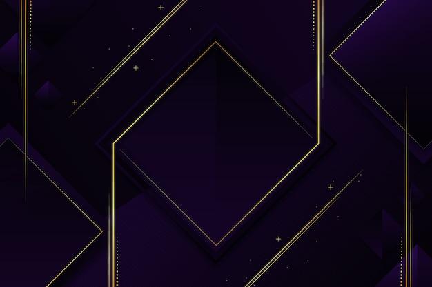 Elegante dunkle tapete mit goldenen details Kostenlosen Vektoren