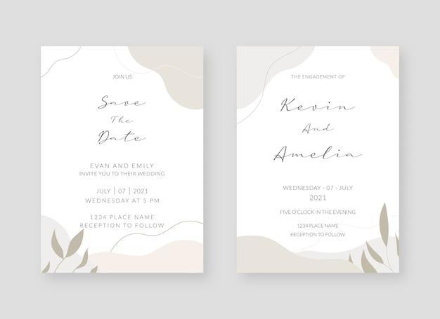 Elegante einladungskartensammlung Premium Vektoren