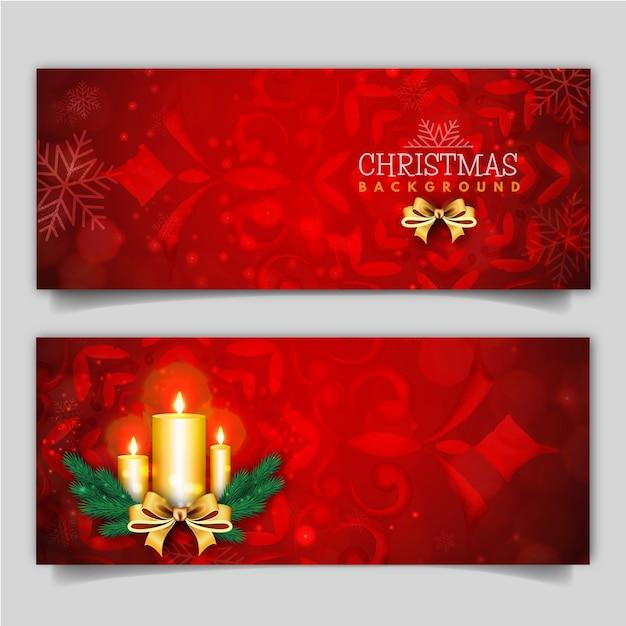 elegante frohe weihnachten banner mit lichteffekt. Black Bedroom Furniture Sets. Home Design Ideas
