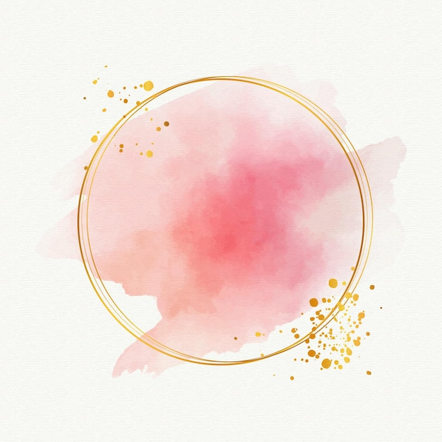 Elegante goldene rahmenschablone des aquarells Kostenlosen Vektoren