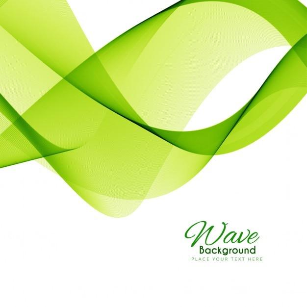 Elegante grüne welle hintergrund design Kostenlosen Vektoren