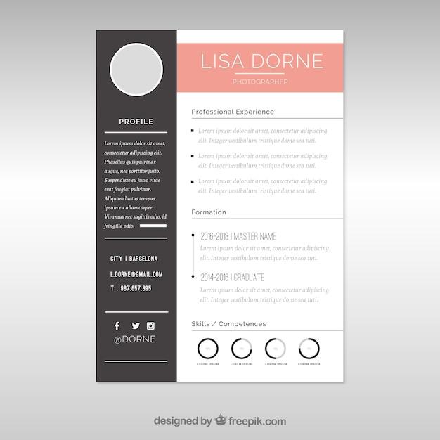 Elegante Lebenslaufvorlage mit Grafiken | Download der kostenlosen ...