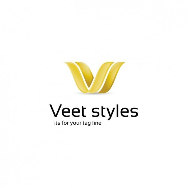 Elegante logo-vorlage Kostenlosen Vektoren