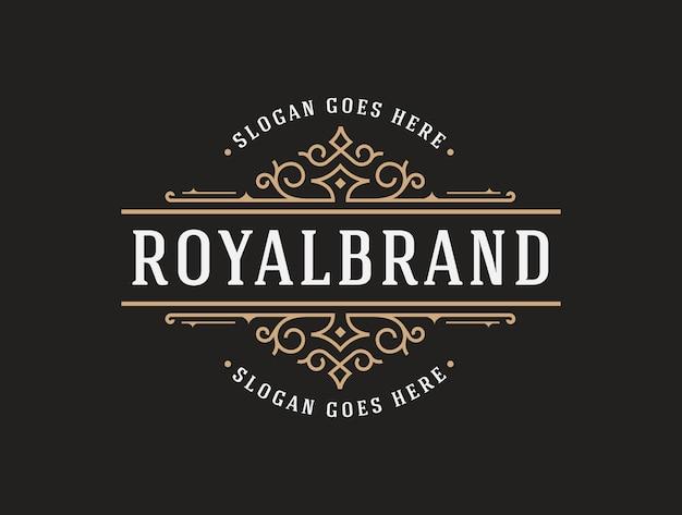 Elegante luxus-logo-vorlage Premium Vektoren
