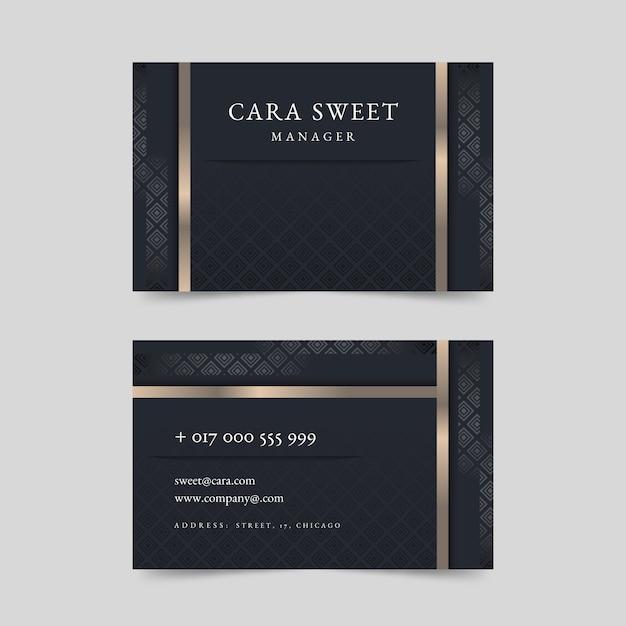 Elegante luxus-visitenkarte Kostenlosen Vektoren