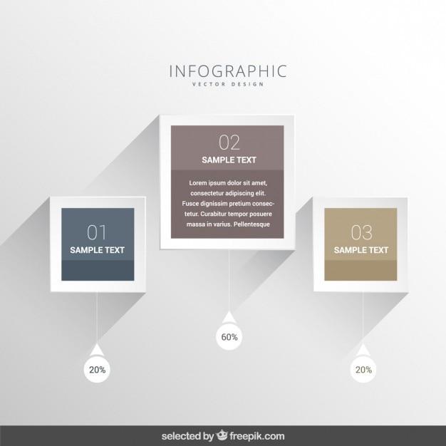 Elegante moderne infografik Kostenlosen Vektoren