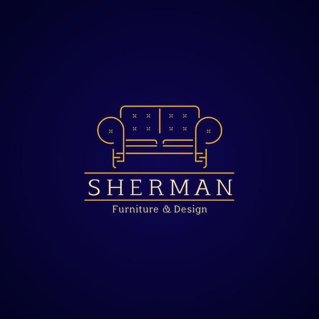 Elegante möbel logo vorlage Kostenlosen Vektoren