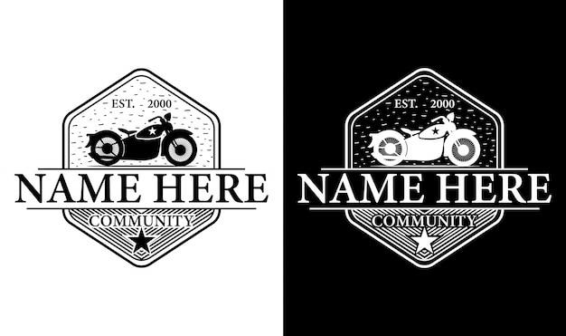 Elegante motorrad vintage retro logo design inspiration Premium Vektoren