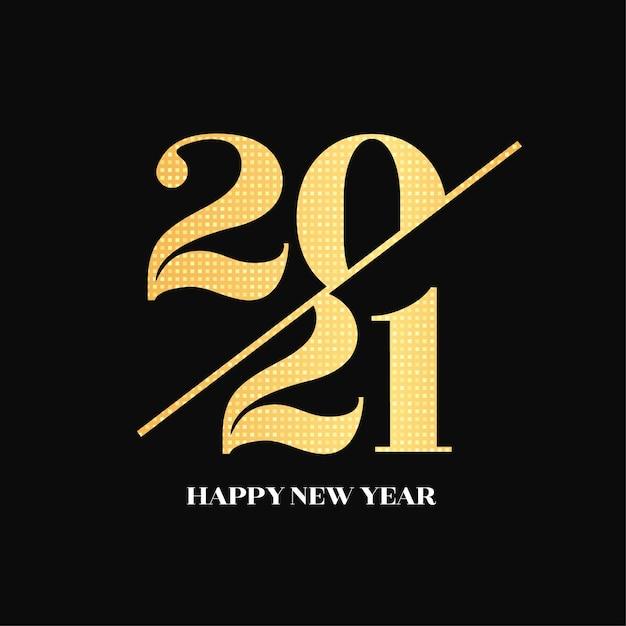 Elegante neujahrskarte mit goldenen zahlen Kostenlosen Vektoren