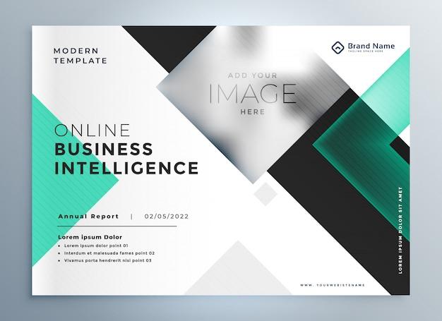 Elegante professionelle business-broschüre präsentationsvorlage Kostenlosen Vektoren