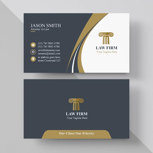 Elegante Rechtsanwalt Visitenkarte Premium Vektor