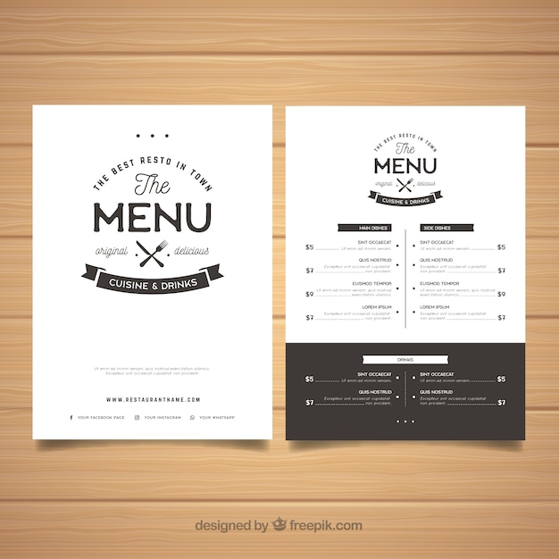 Restaurant Menu Layout Template