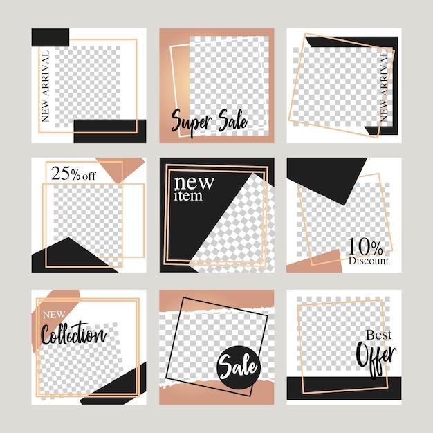 Elegante social media-layout-banner für online-verkauf marketing-promotion-web-banner. Premium Vektoren