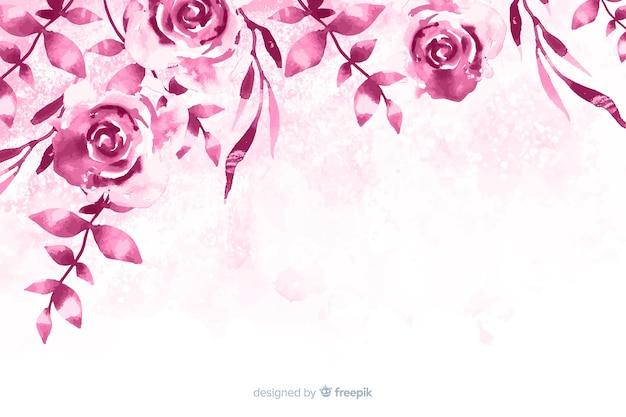 Elegante und einfarbige aquarellblumen Kostenlosen Vektoren