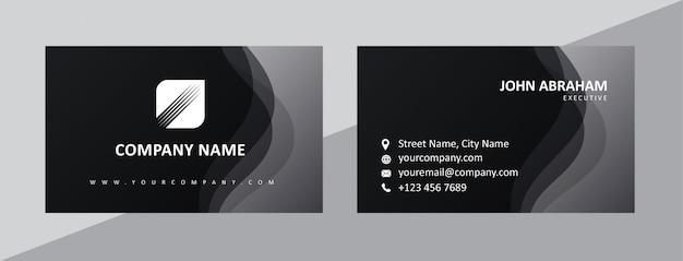 Elegante visitenkartenvorlage Premium Vektoren