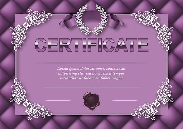 Elegante vorlage des zertifikats, diplom Premium Vektoren