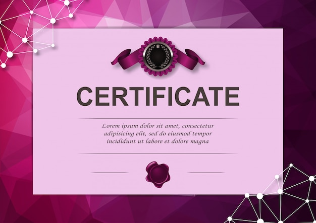 Elegante vorlage des zertifikats Premium Vektoren