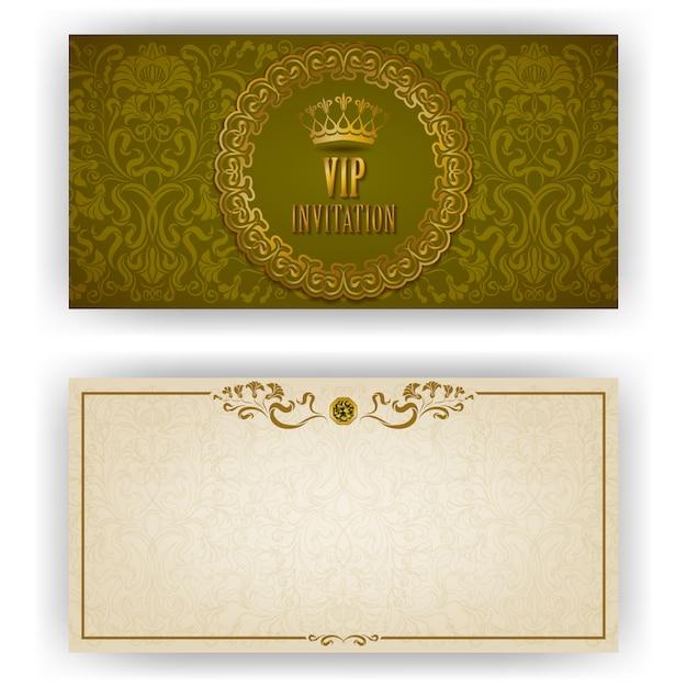 Elegante vorlage für vip-luxus-einladung Premium Vektoren