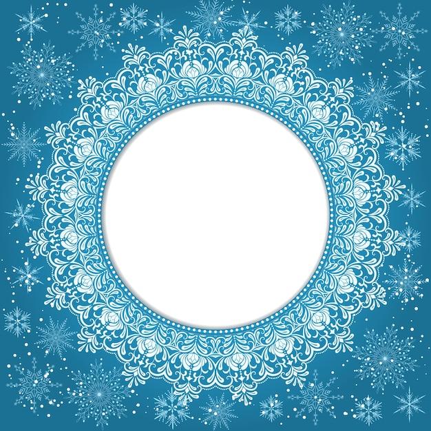 Elegante Weihnachten Hintergrund Mit Schneeflocken Und Platz Für