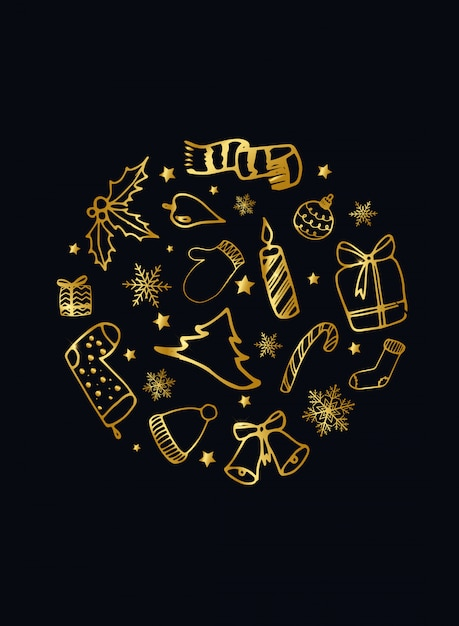 Elegante weihnachtskarte Premium Vektoren