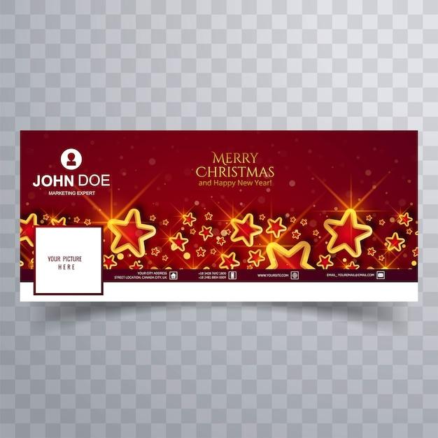 Elegante weihnachtssternabdeckung auf rot Kostenlosen Vektoren