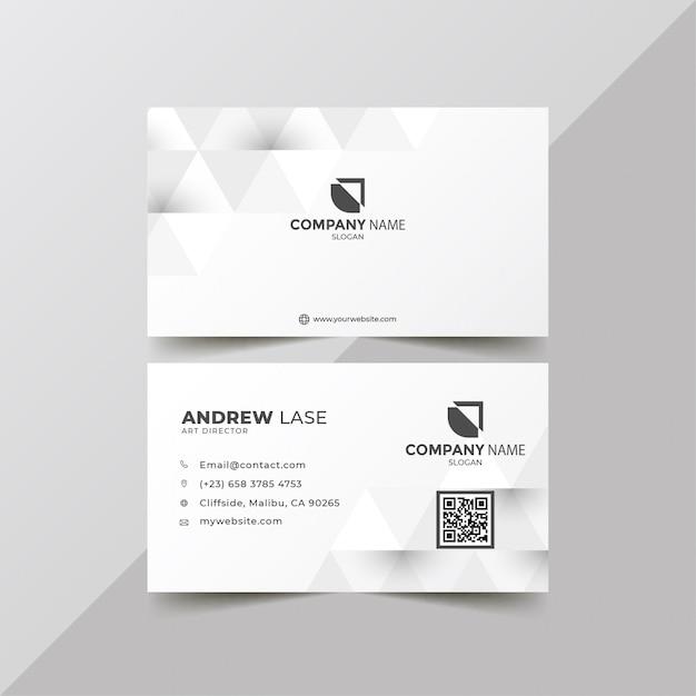 Elegante weiße unternehmenskarte Premium Vektoren