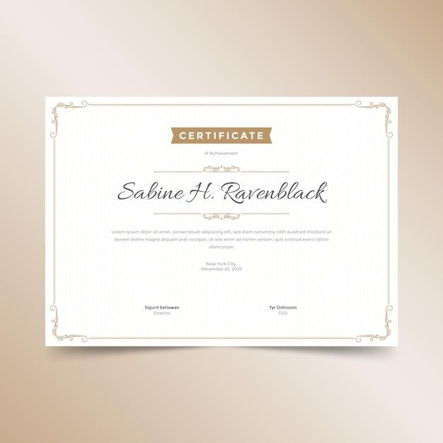 Elegante zertifikatvorlage Kostenlosen Vektoren