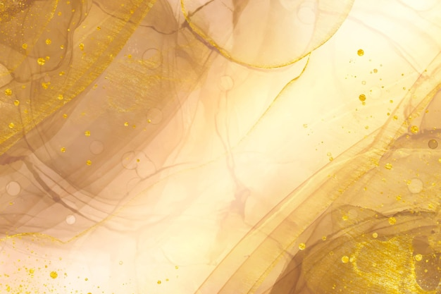 Eleganter abstrakter goldhintergrund mit glänzenden elementen Kostenlosen Vektoren