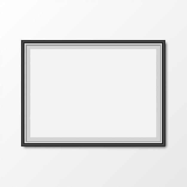Eleganter bilderrahmen mit schatten. vektor-illustration Premium Vektoren