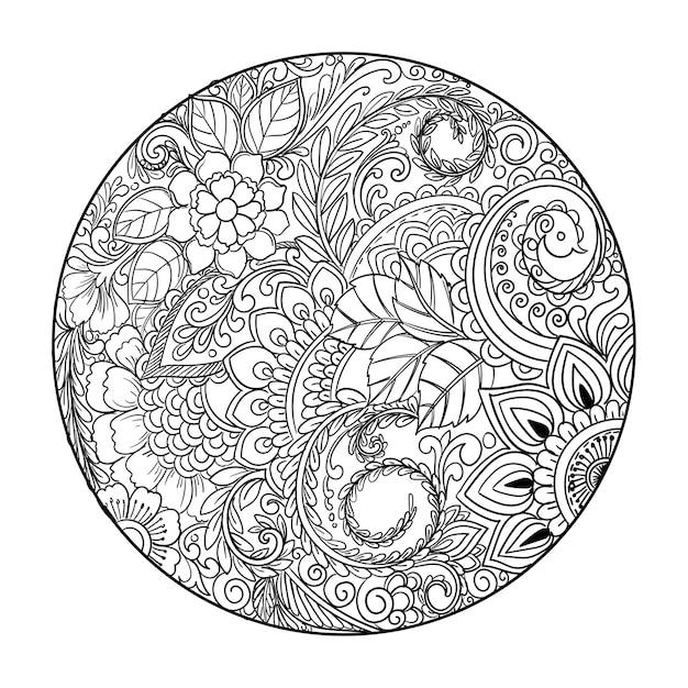 Eleganter dekorativer mandala-blumenhintergrund Kostenlosen Vektoren
