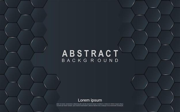 Eleganter dunkler abstrakter hintergrund mit hellen details Premium Vektoren