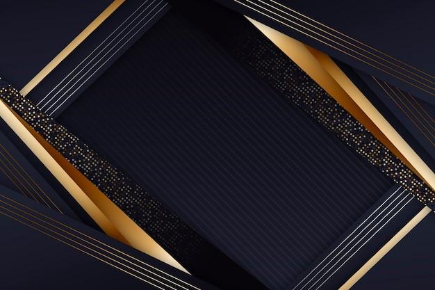 Eleganter dunkler bildschirmschoner mit goldenen details Kostenlosen Vektoren