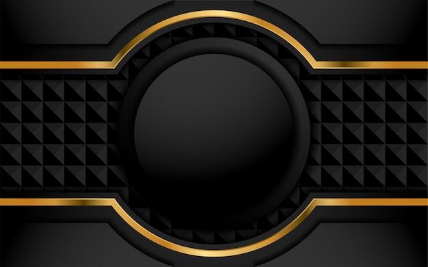 Eleganter dunkler hintergrund mit deckschicht Premium Vektoren