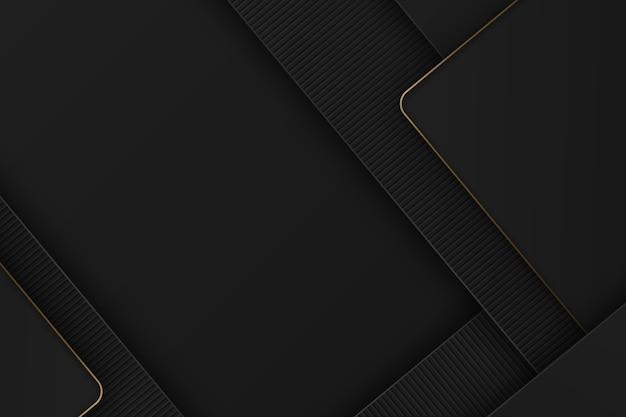 Eleganter dunkler hintergrund mit goldenen details Premium Vektoren