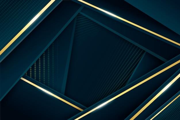 Eleganter dunkler hintergrund mit goldenen details Kostenlosen Vektoren