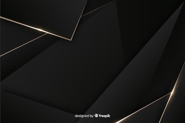 Eleganter dunkler hintergrund mit polygonalen formen Kostenlosen Vektoren