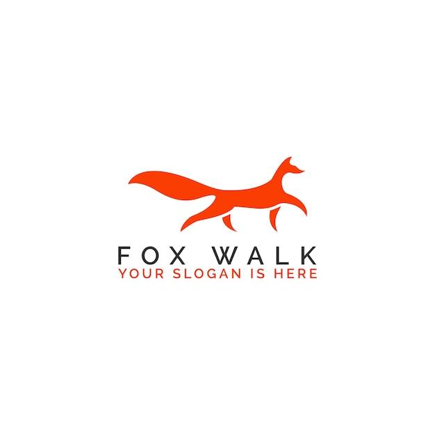 Eleganter fox walk Premium Vektoren