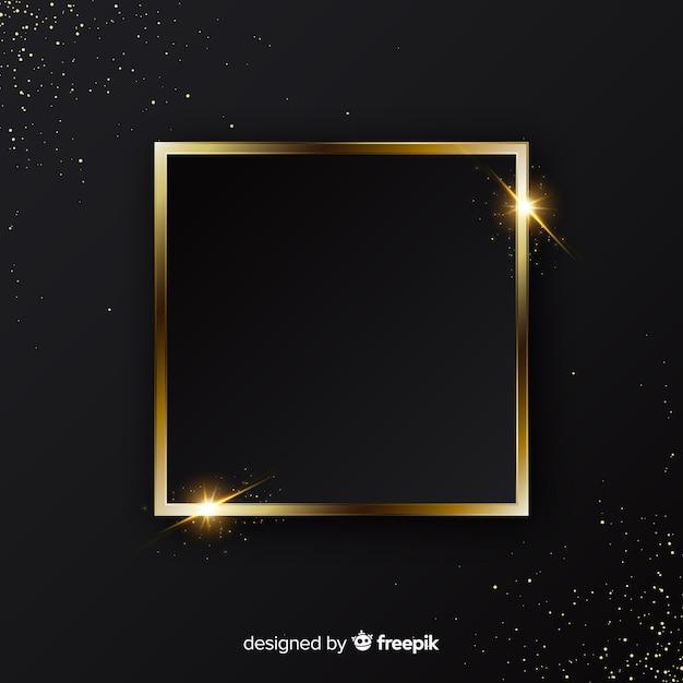 Eleganter goldener funkelnder rahmenhintergrund Kostenlosen Vektoren