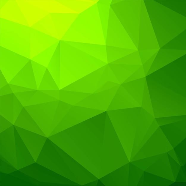 Eleganter grüner geometrischer polygonhintergrund Kostenlosen Vektoren