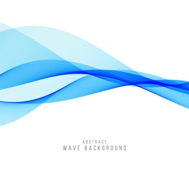Eleganter hintergrund der abstrakten blauen welle Premium Vektoren