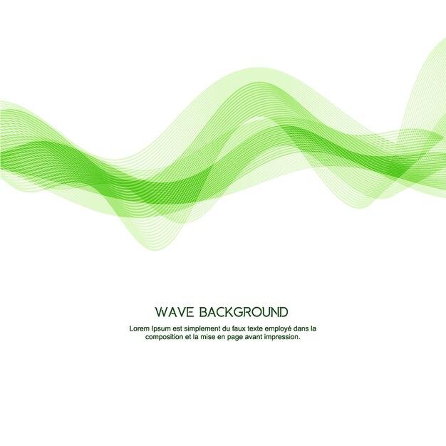 Eleganter hintergrund der grünen welle Premium Vektoren