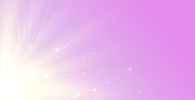 Eleganter hintergrund der leuchtenden strahlen mit lichtstrahlstoß Kostenlosen Vektoren