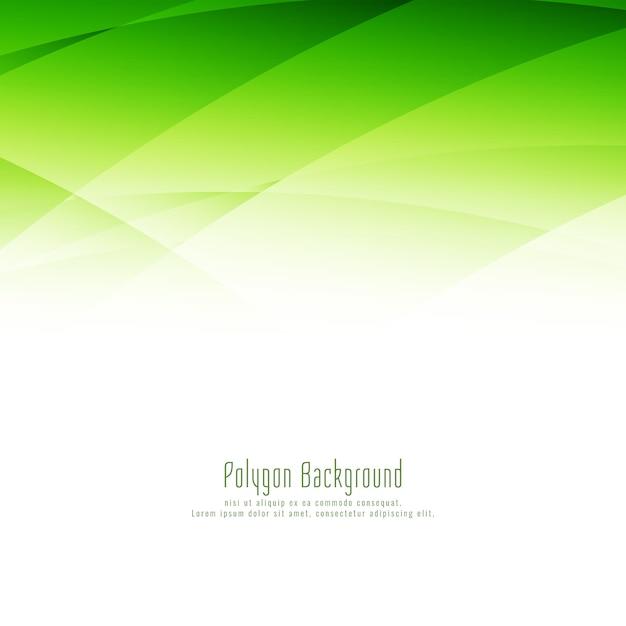 Eleganter hintergrund des abstrakten stilvollen grünen polygonentwurfs Kostenlosen Vektoren