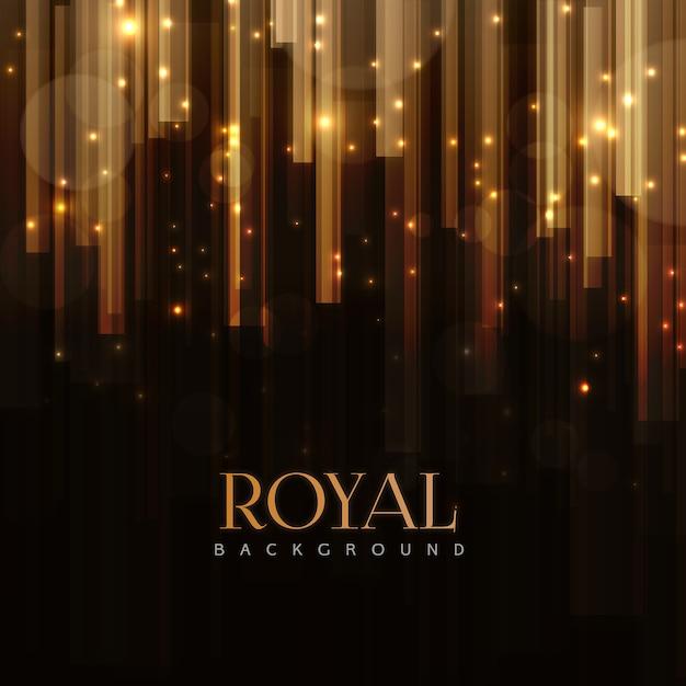 Eleganter königlicher hintergrund mit goldenen stangen effekt Premium Vektoren