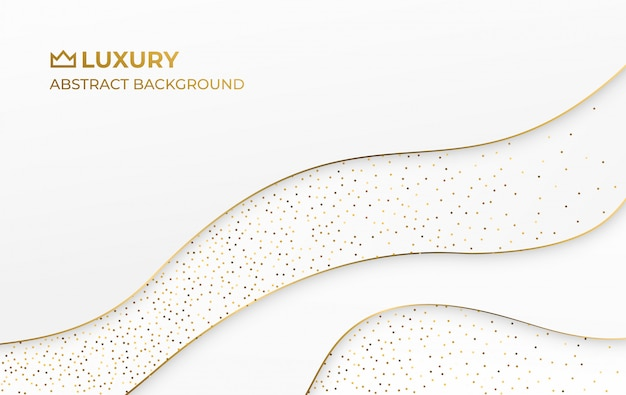 Eleganter luxushintergrund der weißgoldzusammenfassung Premium Vektoren